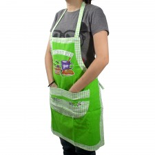 Canvas Apron with Pocket - Green