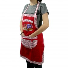 Canvas Apron with Pocket - Red