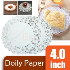 Round Doily Paper 4.0 inch White (Approx 150 pcs)