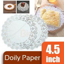 Round Doily Paper 4.5 inch White (Approx 150 pcs)