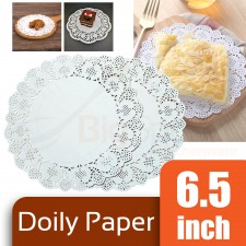 Round Doily Paper 6.5 inch White (Approx 150 pcs)