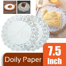 Round Doily Paper 7.5 inch White (Approx 150 pcs)