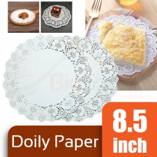 Round Doily Paper 8.5 inch White (Approx 150 pcs)
