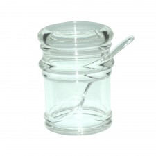 Acrylic Salt Bottle With Cover & Spoon (K-1005A)