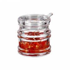 Acrylic Condiment Bottle With Spoon (JD-1801A)