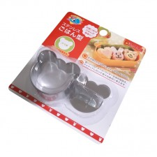 [Bear Shape] Sushi Rice Maker Cake Cookies Fondant Stainless Steel Mold Cutter Tool