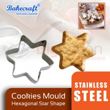 BAKECRAFT Cookies Mould Cookies Cutter Stainless Steel Hexagonal Star Shape Biscuit Mould Fondant Cutter Cake Decorating Tools