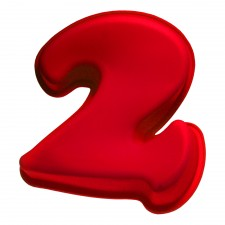 BAKECRAFT Silicone Cake Mould Number 2 - Red