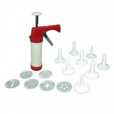 Cookie Press & Icing Set (6 discs + 8 nozzles)