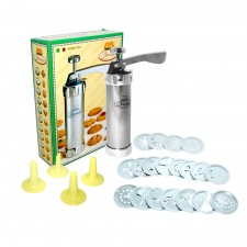 Biscuits Icing Set Stainless Steel (20 discs + 4 nozzles)