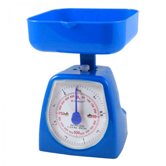 Blue Kitchen Scales: HOMSUIT Kitchen Scale Square 1kg