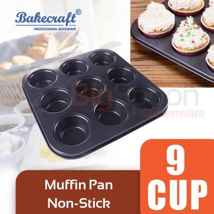 BAKECRAFT Muffin Pan 9 Cup Non-Stick