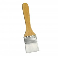 Flat Nylon Pastry Brush with Wooden Handle - 2.0 inch