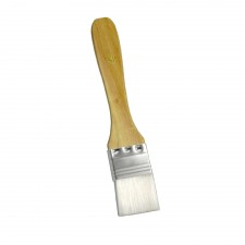 Flat Nylon Pastry Brush with Wooden Handle - 0.5 inch