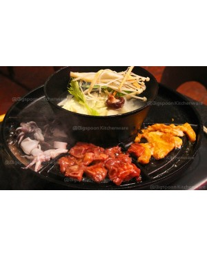 2-In-1 BBQ Plate and Bowl Cast Iron