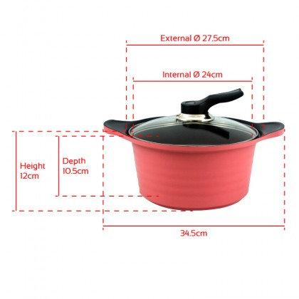 BAUER Stew Pot High Purity Ceramic Coating 24cm