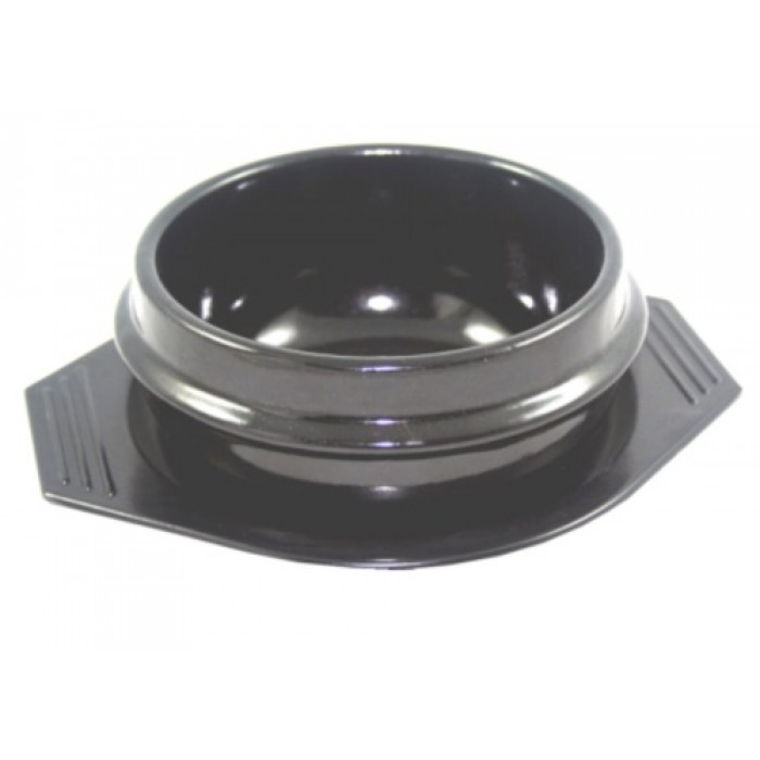 Korean Bowl Ceramic Fired Stone With Tray 16cm