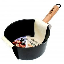 Sauce Pan Non-Stick with Wooden Handle - 16cm