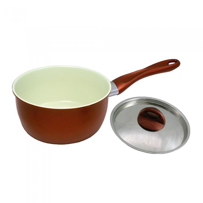 Sauce Pan Ceramic Coated Non Stick 18cm