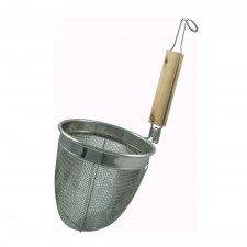 Deep Strainer S/Steel with Wooden Grip 14cm