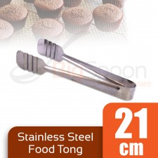 BIGSPOON Stainless Steel Food Tong 21cm Kitchen Tongs Food Clip for Cake Serving BBQ Barbecue Tools Barbeque Tool