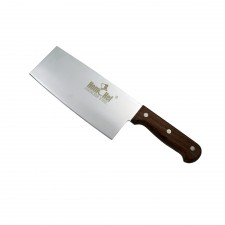 HOMCHEF Chinese Cleaver Knife with Wood Handle - 8 inch