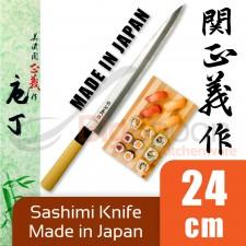 Yanagi Sashimi Knife 24cm Japanese Knife Stainless Steel High Quality for Sashimi Fish - 100% Japan Original