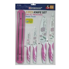 5-PCS Decal Printing Knife Set- Pink