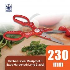 NIKKEN Kitchen Shear Long Blade Scissors Rustproof & Extra Hardened - 100% Original Japan