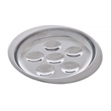 Escargot Stainless Steel Plate (6 holes)