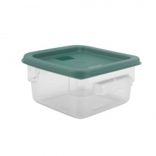 PC Square Food Container With Cover - 2 Litre