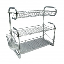 HOMSUIT Dish Rack 3 Tiers Stainless Steel with Utensil Holder