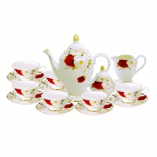15 PCS Country Roses Tea Set