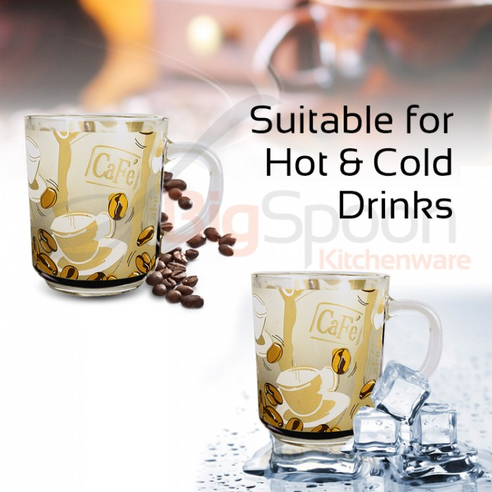 BigSpoon Kitchenware   6in1 - High Quality Glass Coffee Cup