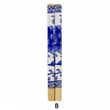 10 Pairs Printed Bamboo Chopsticks - Design B
