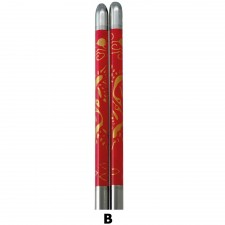 5 Pairs S/Steel Chopsticks with Design - Design B