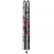 5 Pairs S/Steel Chopsticks with Design - Design C