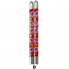 5 Pairs S/Steel Chopsticks with Design - Design D
