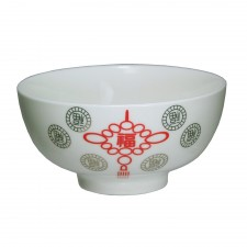 Porcelain Bowl 4.5 inch Chinese Knot 6 PCS Set