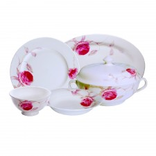 48 PCS Modern Roses Dinnerware Set