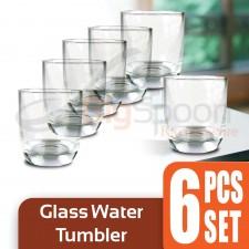 Glass Water Tumbler 6 PCS Set