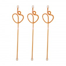 Acrylic Swizzle Stiring Stick - Orange (10pcs)