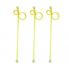 Acrylic Swizzle Stiring Stick - Yellow (10pcs)