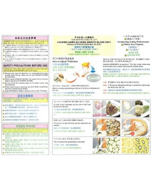 BENRINER Japanese Mandoline Vegetable Slicer - Green - 100% Japan Original