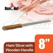HOMCHEF Ham Slicer With Wooden Handle - 8 inch