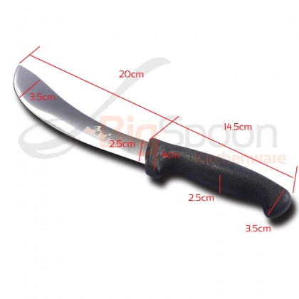 HOMCHEF 7 Inch Mutton Knife Skinning Knife Stainless Steel Brazil Style Breaking Knife Kitchen Knife Home Cooking Knife Household Kitchenware Tools Acessories Pisau Lapah Daging Lembu Kambing Alat-alat Pisau Dapur
