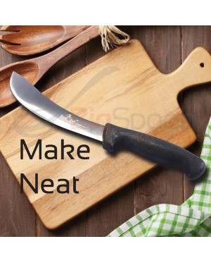 HOMCHEF 7 Inch Mutton Knife Skinning Knife Stainless Steel Brazil Style Breaking Knife Kitchen Knife Home Cooking Knife Household Kitchenware Tools Acessories Pisau Lapah Daging Lembu Kambing Alat-alat Pisau Dapur