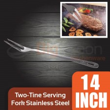 Two-tine Serving Fork Stainless Steel 14 inch [SF-14]