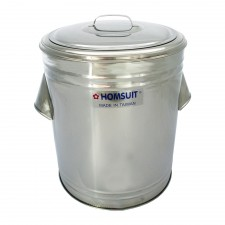 HOMSUIT Large 40L Insulated Rice Bucket 304 Stainless Steel Ice Bucket Water Bucket