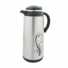 Thermos & Vacuum Flask Vacuum Insulated Air Pot Stainless Steel with Floral Design - 1.0L